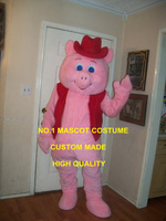 Custom Mascot Lovely Pink Pig Mascot Costume Adult Cartoon Piggy Porket Porkling Theme Anime Cosply Carnival Fancy Dress 1780