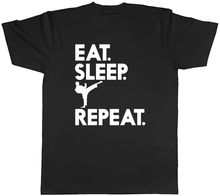 Eat Sleep Karate Repeat Mens Womens Ladies Unisex T-Shirt MenS T-Shirts Summer Style Fashion Swag Men T Shirts.