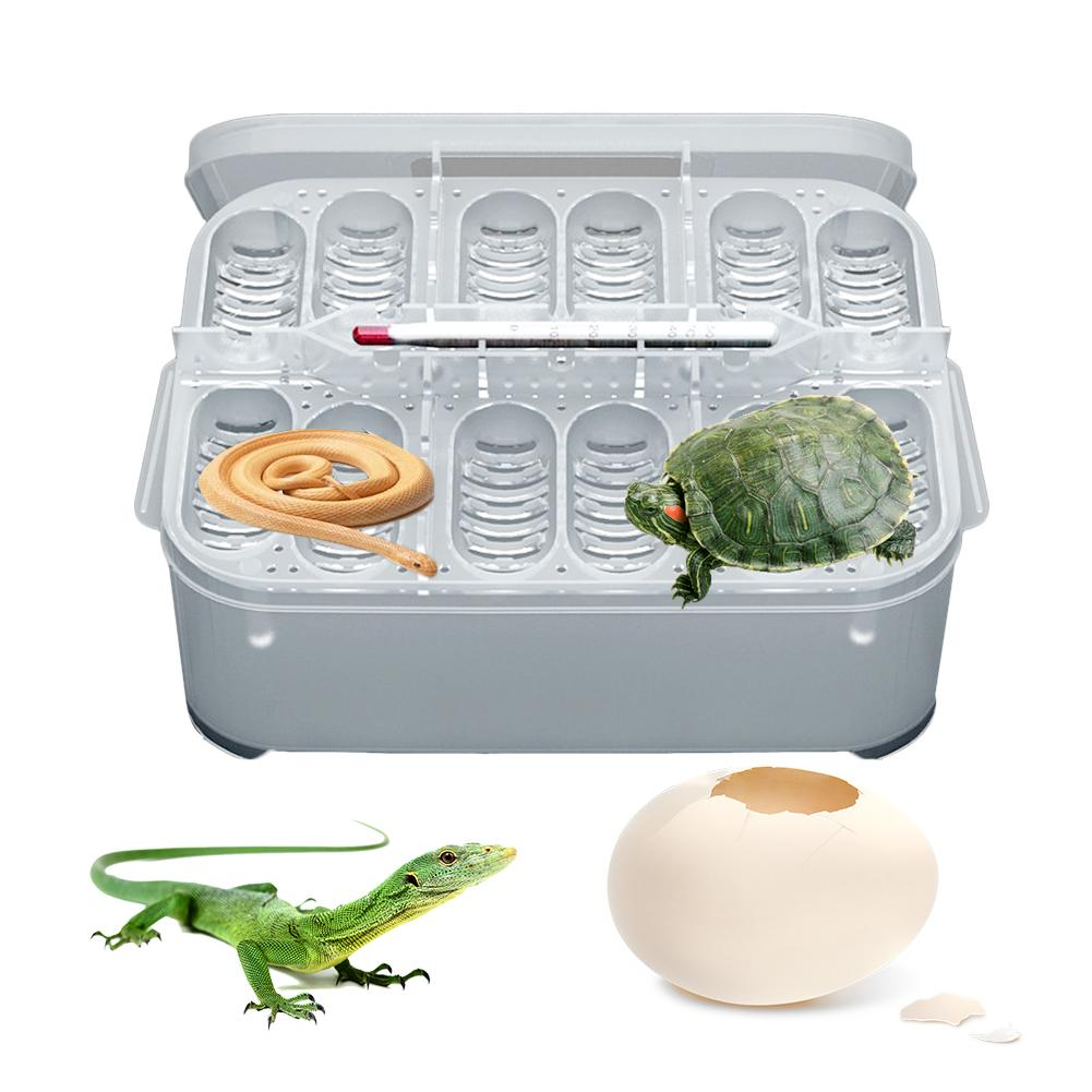 12 Grid Reptile Breeding Box Professional Reptile Hatching Box Lizard Small Climbing Pet Advanced Incubator With Egg Tray