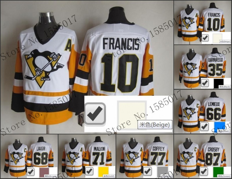 Free Shipping penguins  10 ron francis ccm vintage throwback adult Hockey  Jerseys Ice Winter Jersey Top Quality Accept Mix order-in Hockey Jerseys  from ... 21f5c16a9