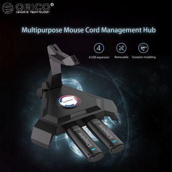 Orico 4 порта Супер скорость USB 3,0 USB концентратор 5 Гбит/с Универсальный USB концентратор внешний 4 порта USB разветвитель с кабелем мыши управлени...