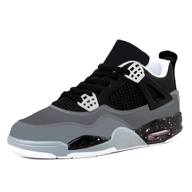 Горячие продажи иордания ретро обувь 4 мужчины аутентичные дешевые моды случайные shoeshigh качество плоские тренеры zapatillas hombre
