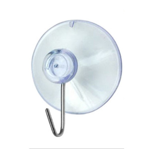 Image 3 - 10/20*Not Hurt The Wall Clear Suction Cup Sucker Hooks For Kitchen/Bathroom glass Metal Hanging Hat keys Coat