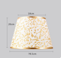 Fashion Lamp shade for table Abstract simple style pvc E27 Lampshade Cover for bedroom Living Room