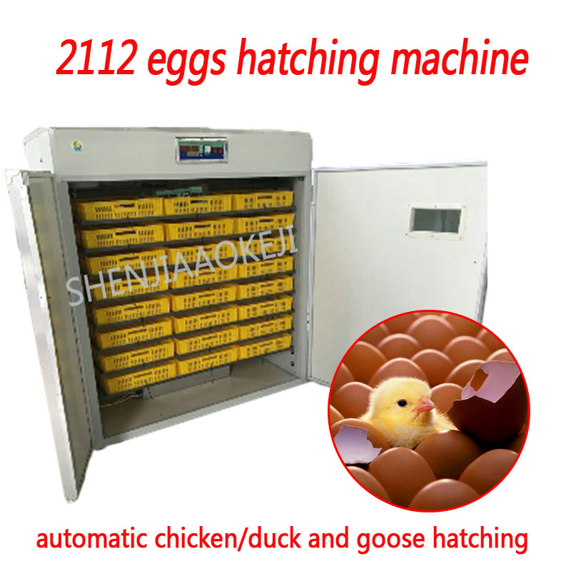 2112 uova da cova macchina tre-purpose Piccola macchina automatica di pollo/anatra e oca all-in-one incubatore 220 v2112 uova da cova macchina tre-purpose Piccola macchina automatica di pollo/anatra e oca all-in-one incubatore 220 v