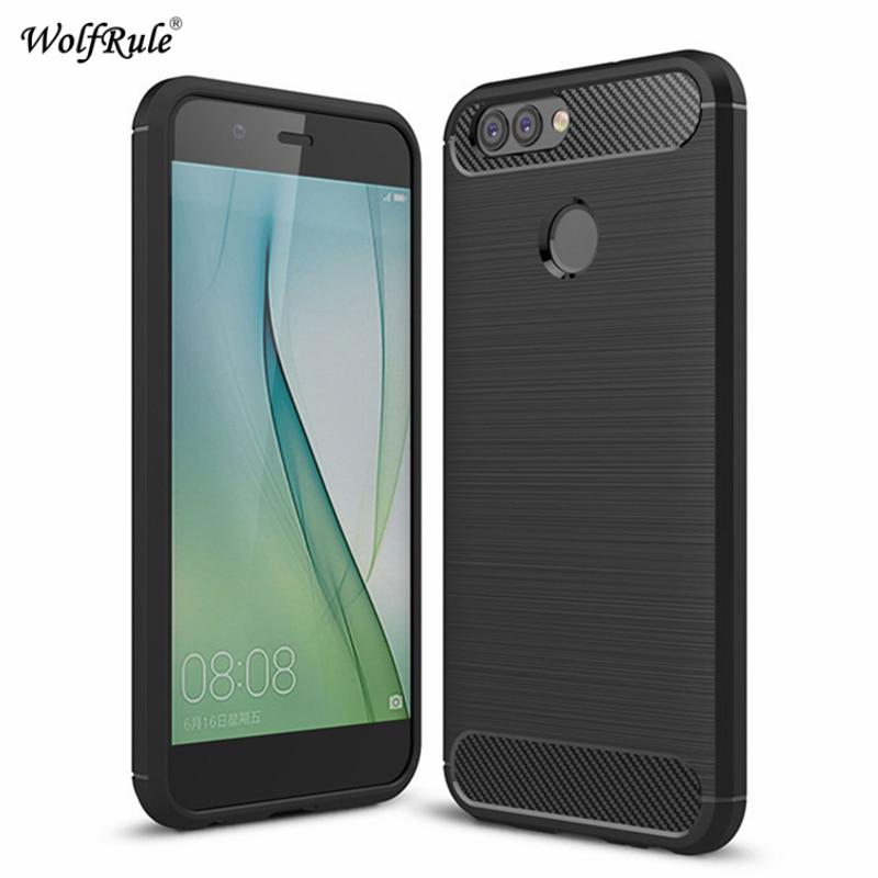 WolfRule Case Huawei Nova 2 Plus Cover Shockproof Silicone Brushed Style Case For Huawei Nova 2 Plus Case Nova2 Plus Fundas 5.5