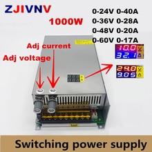 1000 Вт импульсный источник питания 0-12 в 24 в 36 в 48 в 60 в 80 в 120 в 220 В регулируемое выходное напряжение постоянного тока и цифровая стабилизация тока