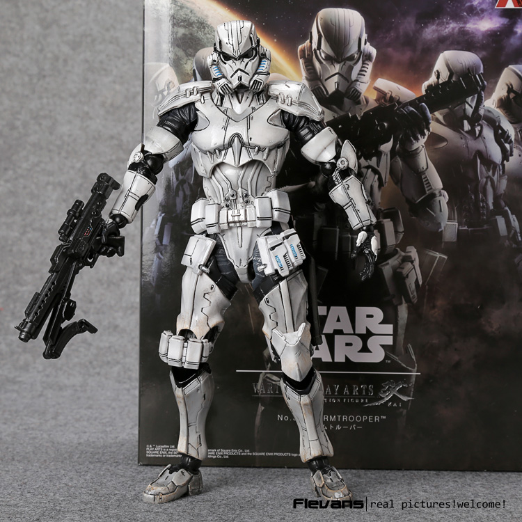 PlayArts KAI Star Wars Stormtrooper PVC Action Figure Collectible Model Toy 26cm MVFG349 star wars stormtrooper helmet cosplay mask figure collectible model toy 1 1