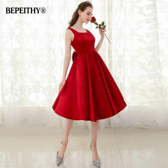 30a566ec76 BEPEITHY Sexy sin espalda corto De baile Vestido Bowknot Vestido De fiesta  vestidos De noche 2019