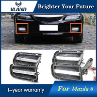 2Pcs White LED Daytime Running Light DRL Fog Lamp for Mazda 6 2003 2004 2005 2006 2007 2008