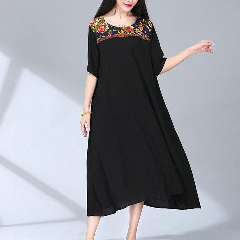 Black Linen Dress Promotion-Shop for Promotional Black Linen Dress ...