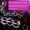 4 Tamaños de Cristal Bolas Anales Bolas Vaginales Anales Butt Plug Sexo Hembra juguete Productos Del Sexo de La Vagina Masajeador Kegel Bolas de Cristal para Las Mujeres