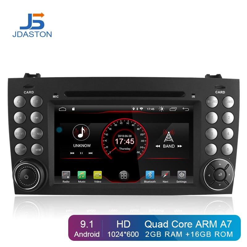 2 JDASTON Android 9.1 In Dash Din DVD Player Do Carro Para Mercedes Benz SLK R171 SLK230 W171 GPS Rádio Do Carro multimídia de áudio Estéreo