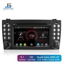 JDASTON Android 9.1 In Dash 2 Din Lettore DVD Dell'automobile Per Mercedes Benz SLK R171 SLK230 W171 GPS Per Auto Radio multimediali Audio Stereo