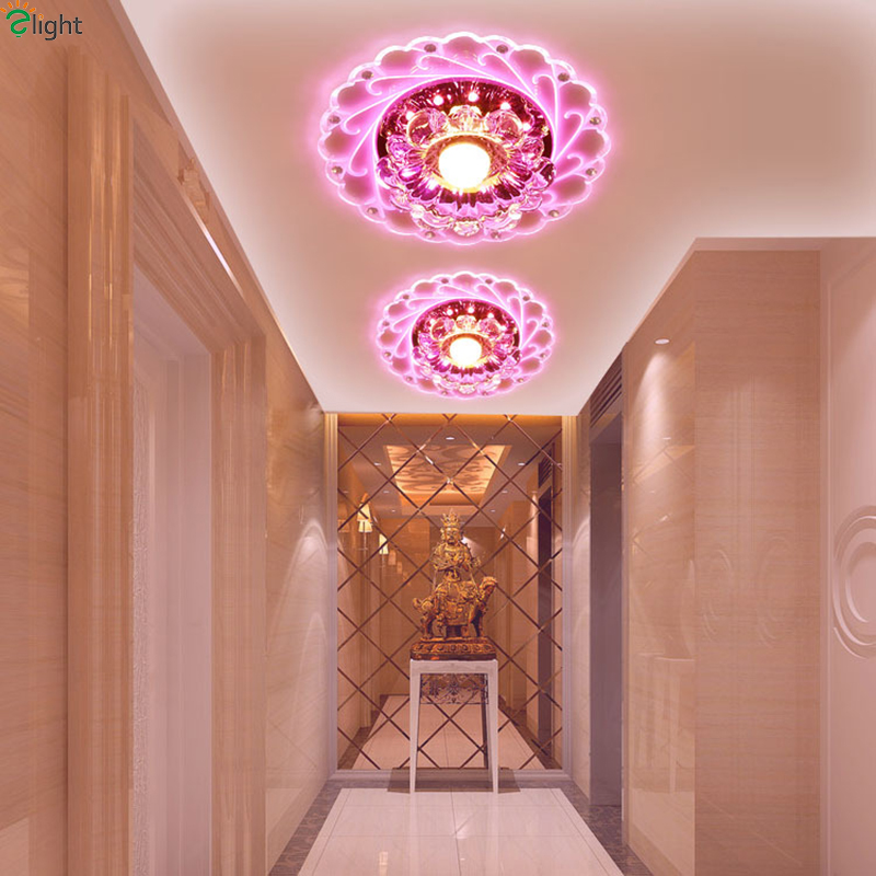 Lights & Lighting Modern Simple Acrylic Led Chandeliers Lustre Crystal Corridor Led Ceiling Chandelier Lights Porch Chandelier Lighting Downlights