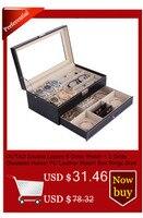 20 сетки слоты часы коробки ювелирные изделия организатор часы дисплей коробка для хранения чехол из искусственной кожи квадратный ювелирн