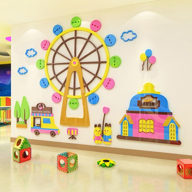 Ferris Wheel Children S Room Kindergarten Wall Decoration