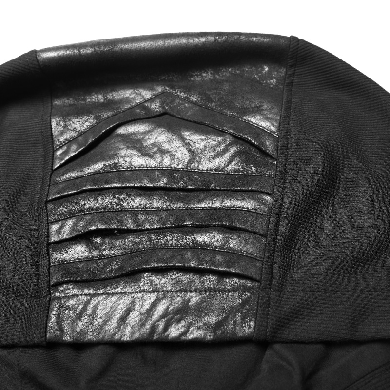 PUNK RAVE negro gótico misterioso sudadera sin mangas moda Punk Rock hombres camiseta personalidad asnual Cool camisetas divertidas camisetas - 4