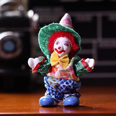 09e7757f529f9 US $4.1 9% OFF|Funny Home Decoration Ceramic Circus Clown Figurine Statue  Handmade Porcelain Craft Ornaments Kid Room Christmas Halloween Decor-in ...