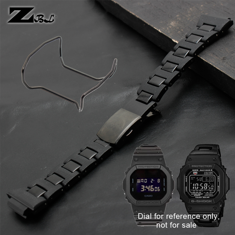 Plastic wathband watch strap and Steel Case Bumper stainless steel Accessories for casio <font><b>g</b></font>-<font><b>shock</b></font> <font><b>DW</b></font>-6900/DW9600/DW5600/GW-M5610 image