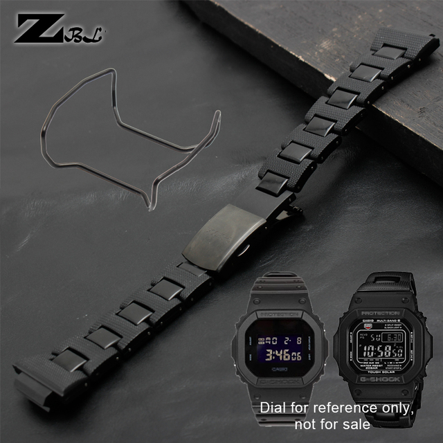 65629891f805 Plastic wathband watch strap and Steel Case Bumper stainless steel  Accessories for casio g-shock DW-6900 DW9600 DW5600 GW-M5610