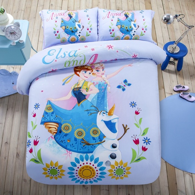 Disney Marke Elsa Und Anna Gefrorene Cartoon Bettwäsche Sets 100