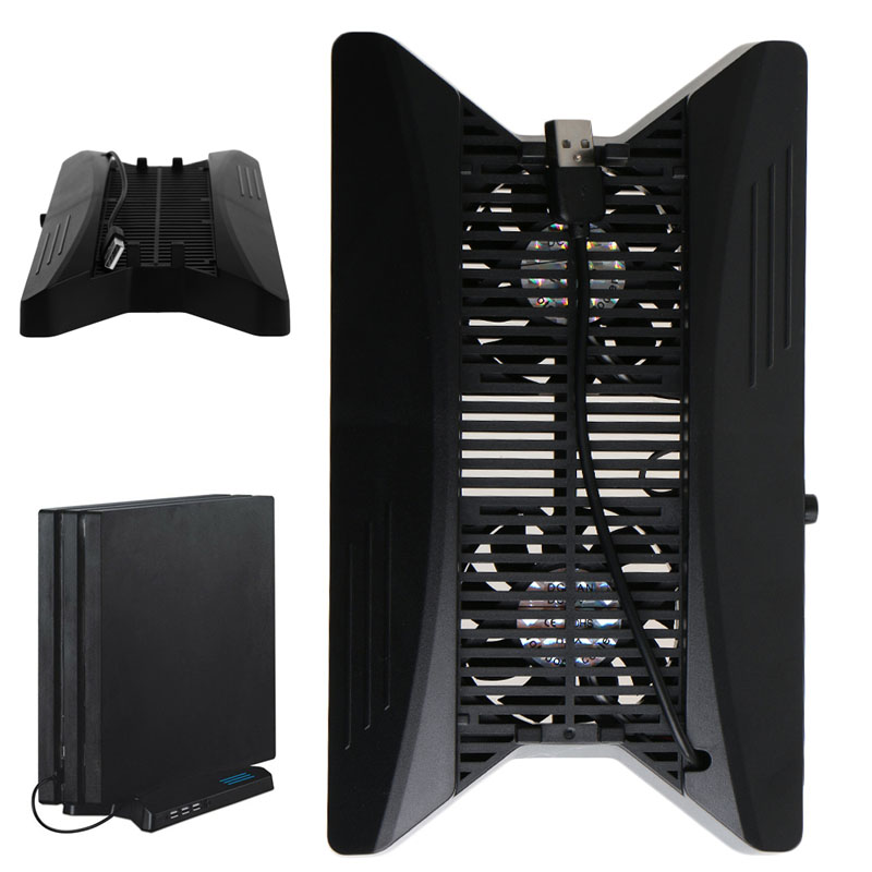 2019 new Charging Station Cooling Fans Ventilation Vertical Stand With HUB2 0 For PS4 Pro in Stands from Consumer Electronics