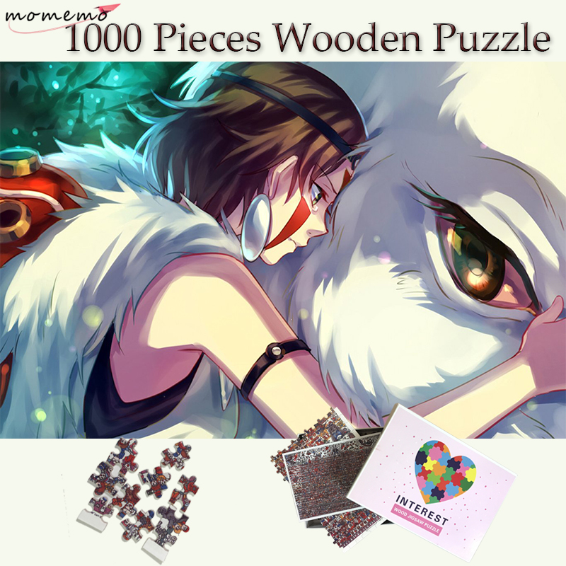 MOMEMO Princess Mononoke Customized 1000 Pieces Puzzle Wooden Puzzle 1000 Pieces Classic Cartoon Jigsaw Puzzles Toys For Adults