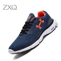 Новая мужская повседневная обувь из сетчатого материала легкая мужская обувь на шнуровке удобные дышащие прогулочные теннисные кроссовки ...