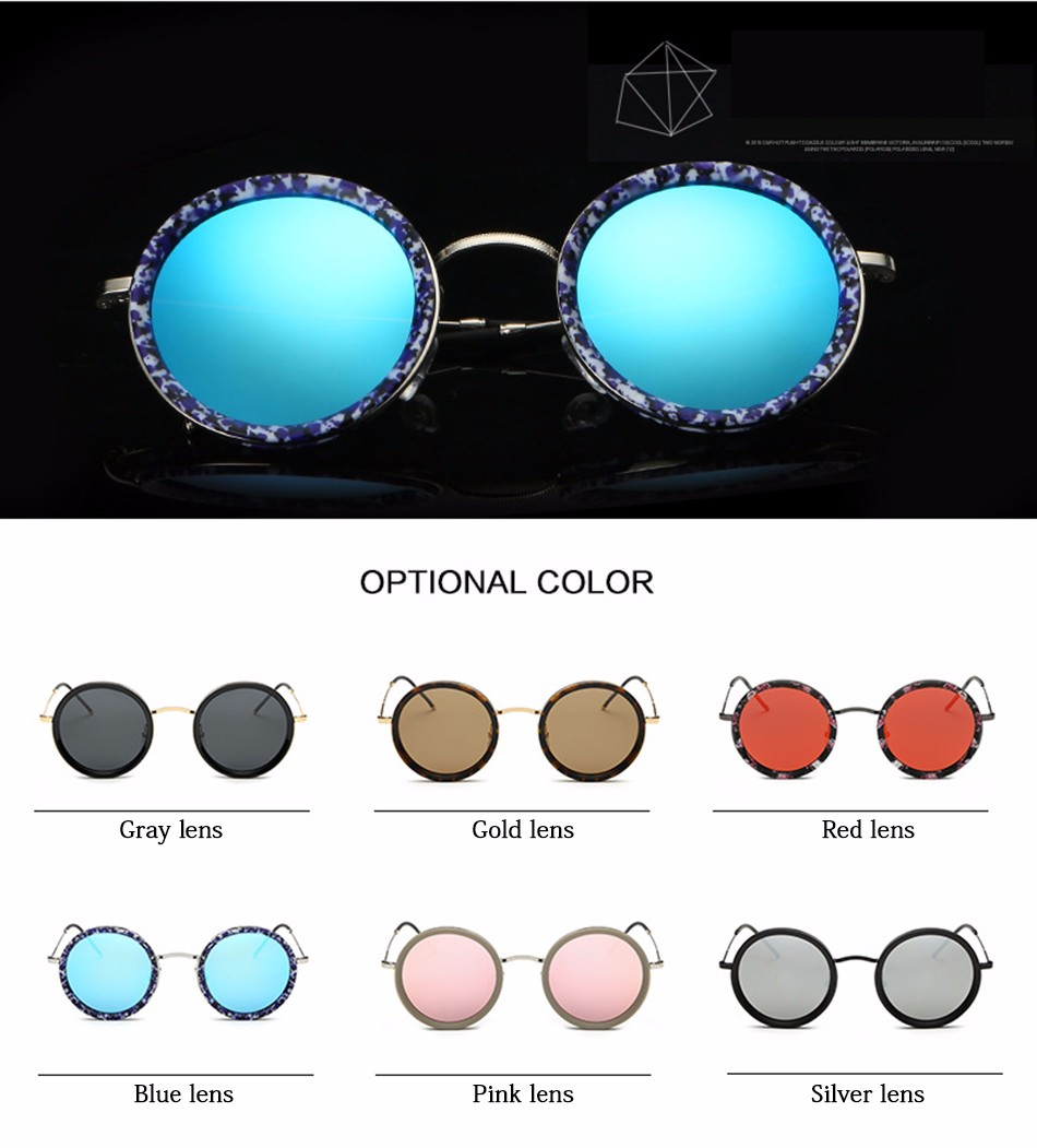 900593174758 FEIDU 2016 Fashion Round Polarized Sunglasses Men Retro Brand ...
