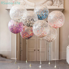 10pcs 12 Inch Latex Balloon Confetti Transparent Magic Bubble Balloons for Wedding Birthday Parties Christmas Decoration