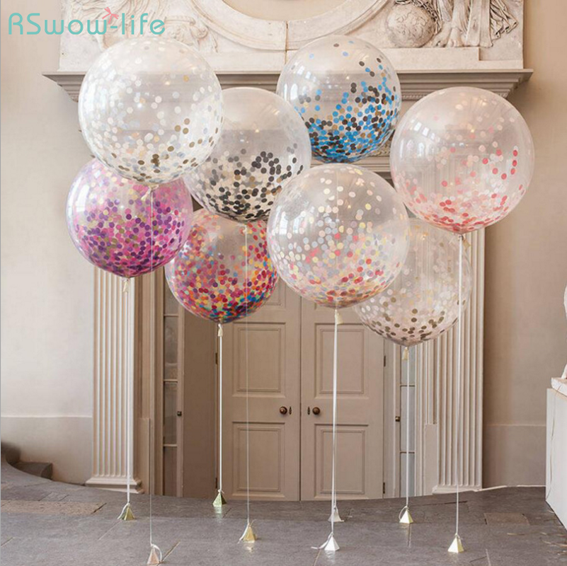 Confeti de globos de látex de 12 pulgadas Globos de burbujas - Para fiestas y celebraciones