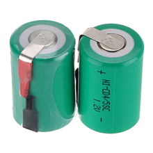 New Real Capacity 4/5 SC Battery 1.2V 1600mAh 23*33 4/5 Sub C SC Ni-CD Rechargeable Batteries With PCB For Eletronic Tools 0.11