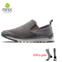 RAX Men's Jogging Shoes Spring&Summer Outdoor Sports Sneakers Women Lightweight Walking Shoes Men Breathable Sneaker With gift