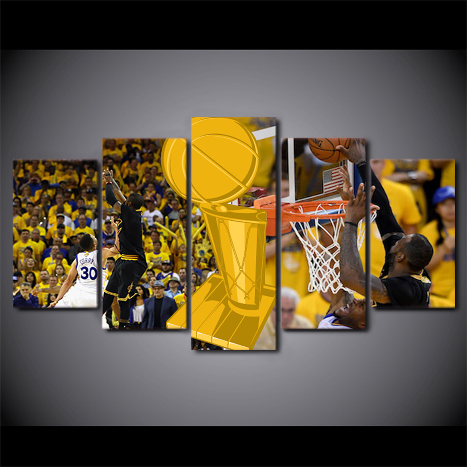 5 Teile/satz Gerahmte HD Gedruckt Basketball Intensive Stadion ...