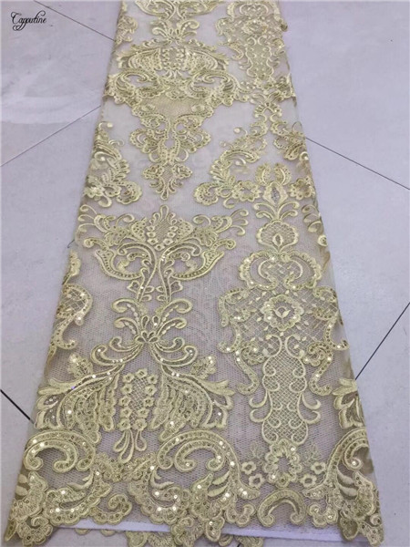 Hoogwaardige borduren Franse netto kant stof hot koop mesh doek voor feestjurk PNZ378 (5 meter/stuk)-in Kant van Huis & Tuin op  Groep 3