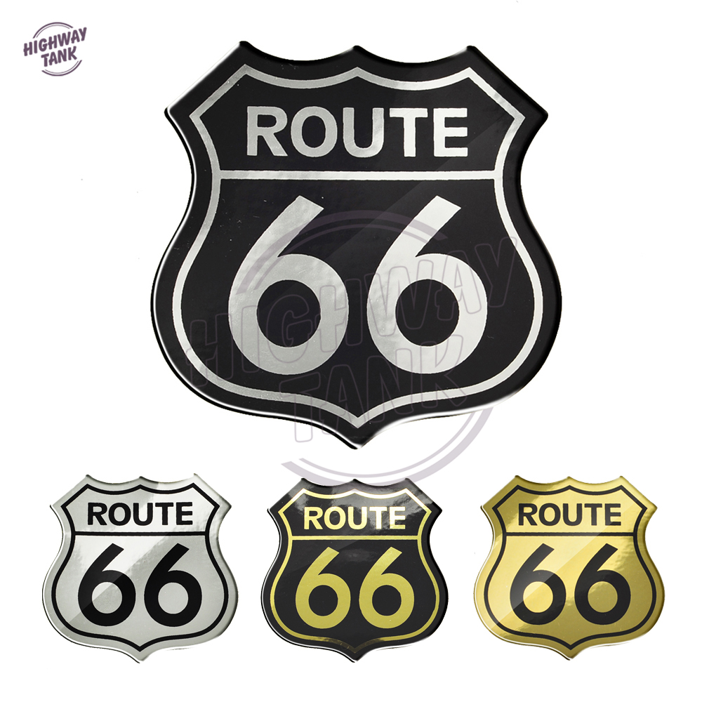 3D Motorcycle Decal Stickers America US The Historic Route 66 Sticker Case For Harley Yamaha Honda Suzuki Kawasaki KTM BMW