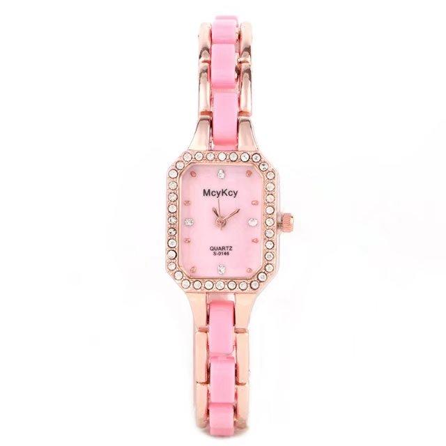 2017 Brand Luxury Crystal Gold Watches Women Fashion Bracelet Quartz Wristwatch Rhinestone Ladies Watch Gift Relogio Feminino