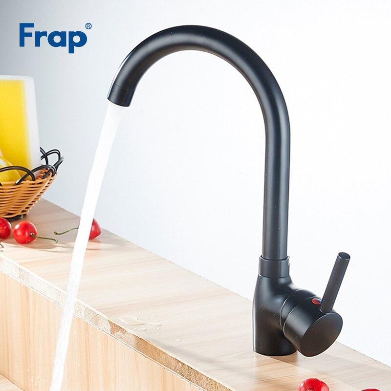 Mélangeur de cuisine Frap noir en laiton massif robinet de cuisine froid et chaud robinet d'eau monotrou robinet de cuisine Torneira Cozinha Y40092-1