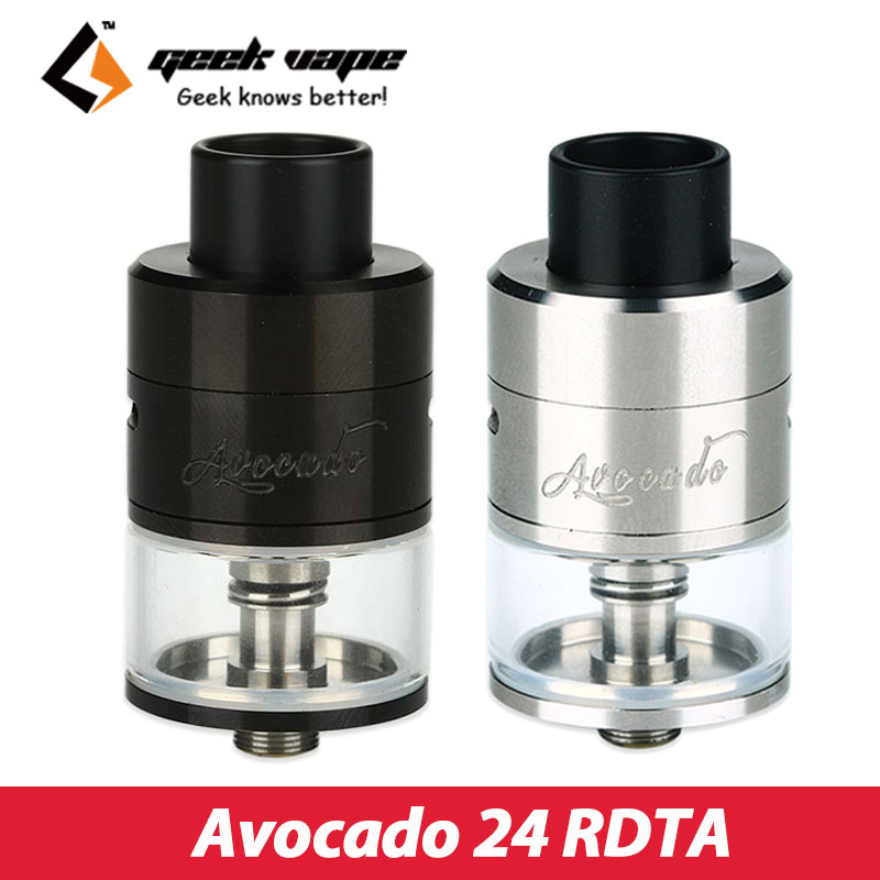 Original Geekvape Avocado 24 RDTA Atomizer 5ml E cigarette Tank with Velocity Dual Post Deck Vaporizer