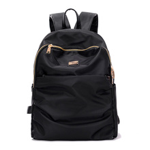KVKY Classic Youth Campus Men's Students SchoolBag Female Waterproof Nylon Backpack Teens Boy Travel Rucksack Women Backpack