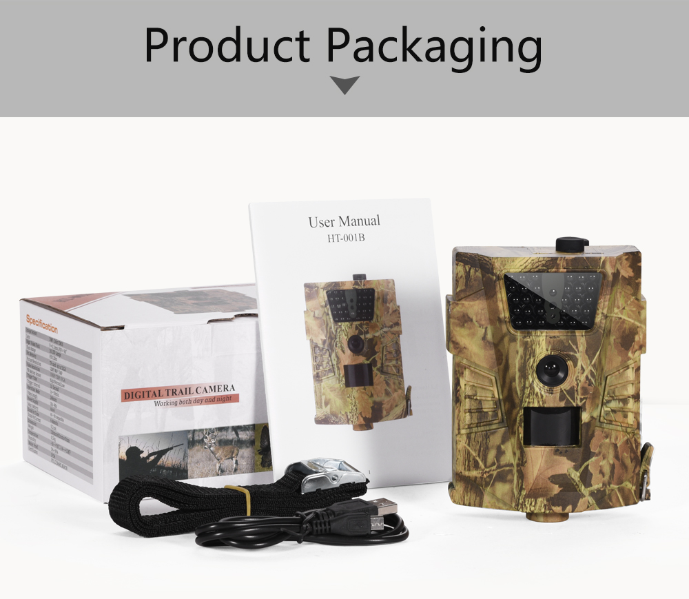 Image 5 - Goujxcy HT 001B Trail Camera 30pcs 850nm Infrared Leds Hunting Camera Scout Waterproof 120 Degree Camera photo traps Wild Camera-in Hunting Cameras from Sports & Entertainment