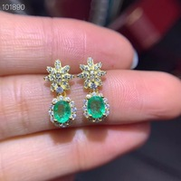new green emerald gemstone earrings for beauty