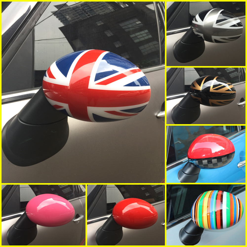 2pcs Union Jack Door Rear View Mirror Covers Stickers Car-styling Decoration For BMW Mini Cooper One S JCW F56 F55 Accessories 2016 mini clubman one coopers side door power window switch center console panel covers accessories car stickers for f54 6 door page 6