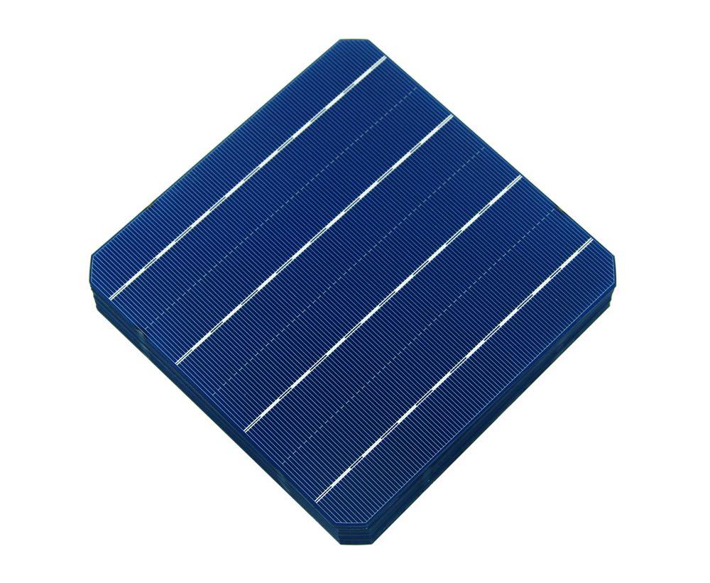 Prix pour 40 pcs 4.7 w/pcs monocristallin cellule solaire 156*156mm pour diy photovoltaïque mono panneau solaire