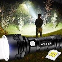 SHEN Linterna LED táctica Ultra potente L2 XHP50, recargable vía USB, resistente al agua, ultrabrillante