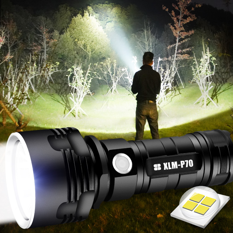 SHEN ультрамощный светодиодный фонарик L2 XHP50, Тактический фонарик с USB-зарядкой, водонепроницаемый фонарь, Ультраяркий фонарь