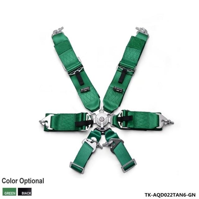 """3 """"6 Точка Гонки Безопасности Camlock Ремень Упряжи (Черный/Зеленый) TK-AQD022TAN6"""