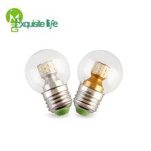 Led bulb transparent small LED E27 screw led double color 5W 7W magic bean light source three colors