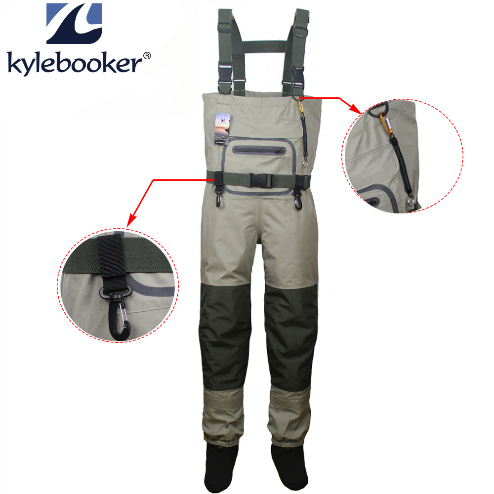 Fishing Waders Durable And Comfortable Breathable Stocking Foot Chest Wader Kits  For Men And Women